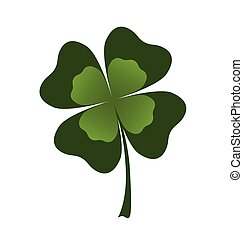 shamrock leaf - vector shamrock leaf on white background