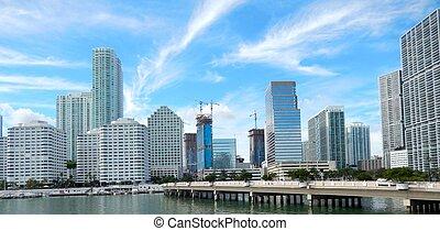 Brickell Key and Brickell Key Drive, Miami, Florida, USA