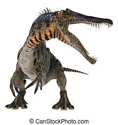 Dinosaur Spinosaurus - 3D digital render of a curious...
