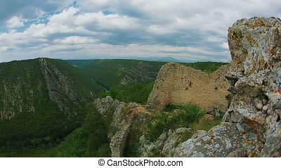 Necven fortress - View of the archaeological remains of the...