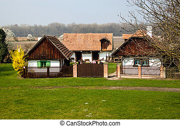 Traditional village houses of 19th century in Open Air...