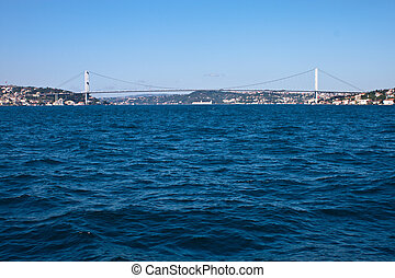 Bosporus bridge in Istanbul, Turkey