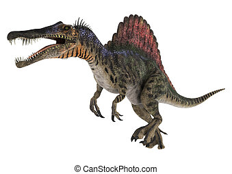 Dinosaur Spinosaurus - 3D digital render of a running...