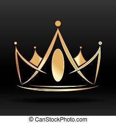 Gold crown for logo and graphic designer