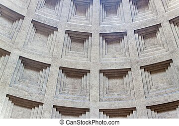 Pantheon in Rome, Italy - Detail of a cupola of Pantheon in...