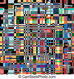 abstract pattern - bright colorful graphic abstract pattern