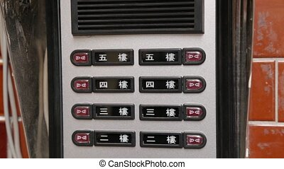Finger pushing buzzer - Intercom with multiple door buzzers...
