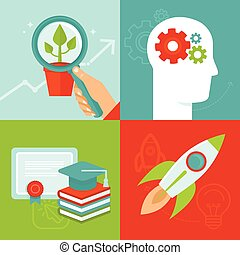 Vector personal development concepts in flat style -...