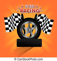 Tire Design over white background vector illustration