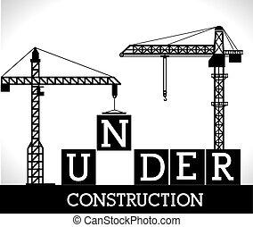 Construction design,vector ilustration. - Under construction...