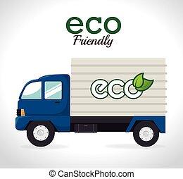 Ecology design, vector illustration - Ecology design over...