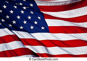 US Flag - an American flag background waving in the wind