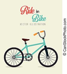 Bicycle design, vector illustration.
