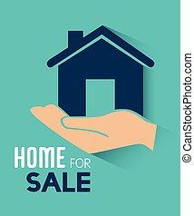 Real estate over blue background vector illustration