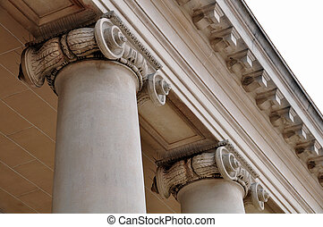 Roman Columns at Palace of the Legion of Honor museum in San...