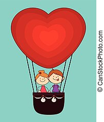 Airballoon design over white backgroundvector illustration -...