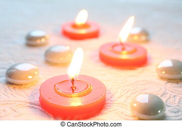 Romantic candlelights - Beautiful romantic candlelights on a...