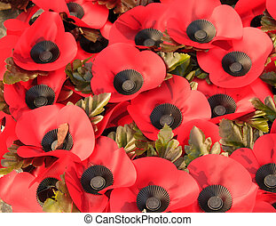 wreath of poppies to commemorate the First World War