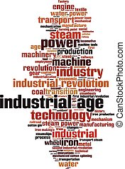 Industrial age word cloud