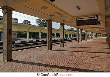 Railway station Ruse town - Railway platform of railway...
