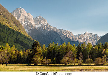 Slovenian Alps - View of Slovenian Alps in spring