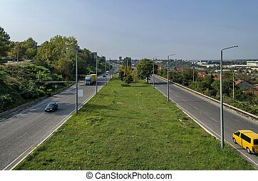 View to highway Ruse-Sofia - View from above to highway...