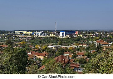 View to industrial part of Ruse town, Bulgaria