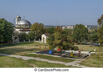View to part of Ruse town with Sveta Petka church and...