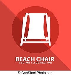 beach chair design, vector illustration eps10 graphic