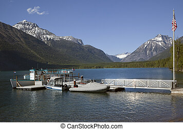 Lake McDonald Boats Glacier National Park