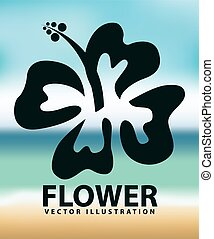 flower design - flower design, vector illustration eps10...