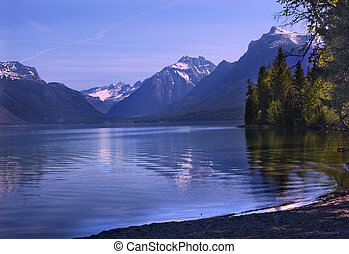 Lake McDonald Reflection Glacier National Park Montana