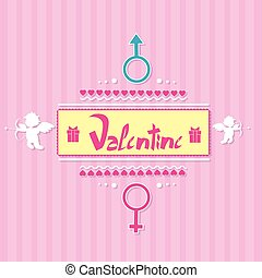 Valentine's day gift card angel cupid valentine holiday