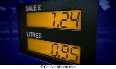 British petrol pump starts at 0