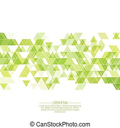 Creative abstract triangle pattern. Polygonal mosaic...