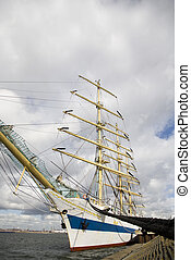 Tall ship - Russian tall ship Mir in IJmuiden