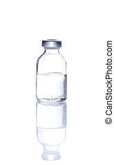 frasco, vidrio, Inyectar, Plano de fondo, Medicina, blanco,...