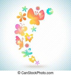 Colorful spring background design. Vector illustration