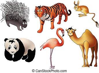 Asian animals (vector)