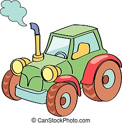 Tractor cartoon colored