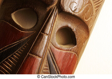 African Mask - An African handmade mask on display.