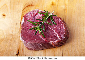 raw piece of beef fillet