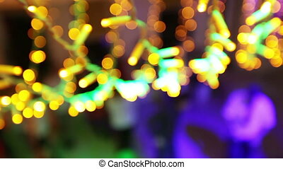 Dancing people bokeh