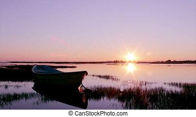 Algarve - Faro - Waterfront Park - Timelapse Sunset in Faro...