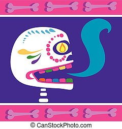 mexican skull 2 - Is a EPS 10 Illustrator file