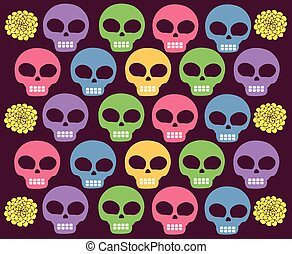 skulls colored  - Is a EPS 10 Illustrator file