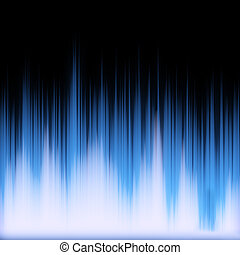 Blue Glowing Audio Waveform