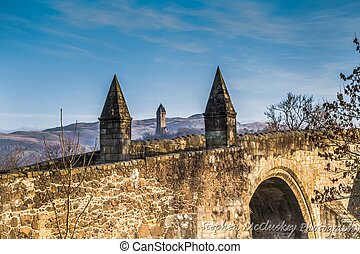 Stirling Bridge - A shot of Old Stirling Bridge on a sunny...