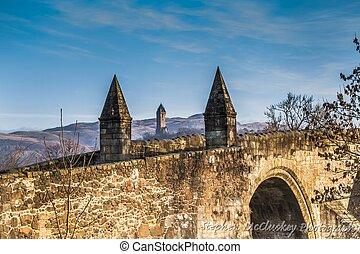 Stirling Bridge - A shot of Old Stirling Bridge on a sunny...