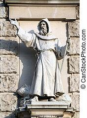 Carl, Kundmann:, Evangeliser, ligado, a, façade, de,...